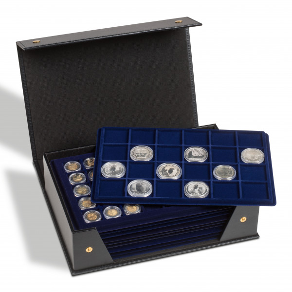 Münzkassette TABLO für 10 Tableaus (L-Format), schwarz