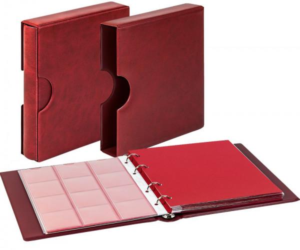 Set: karat-Münzalbum CLASSIC mit Schutzkassette mit Griffmulden