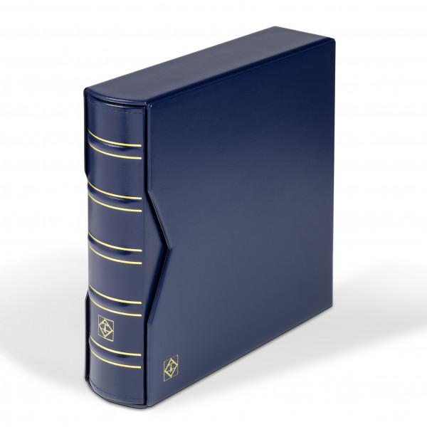 Album für 200 FDCs oder Briefe Din Lang, inkl. Schutzkassette, blau