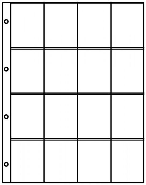 Einsteckblätter A4 mit 16 Taschen (50 x 70 mm), 10er-Packung
