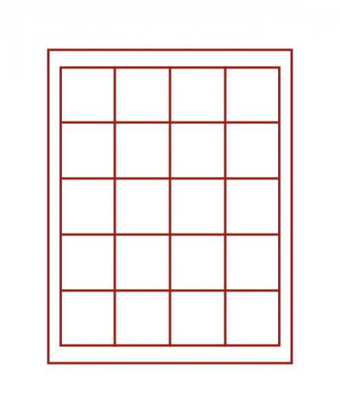 Münzbox RAUCHGLAS mit 20 quadratischen Fächern für Münzen/Münzkapseln bis ø47 mm