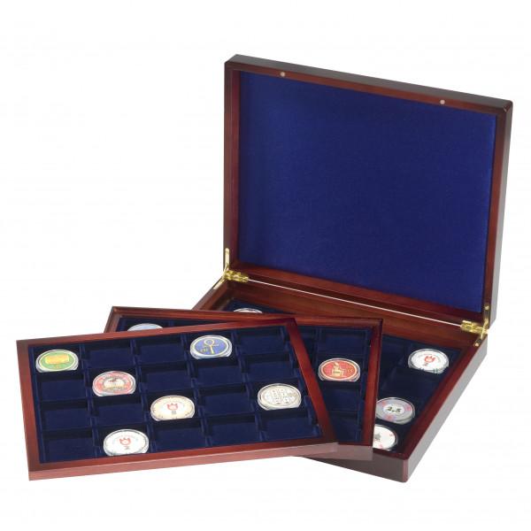 Münzkassette VOLTERRA TRIO deLuxe, mit je 20 eckigen Fächern für Münzen bis 48 mm Ø