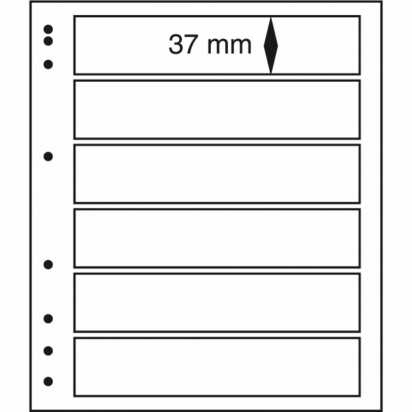 MOC LB-Blankoblätter mit Schutzfolie, 6er Einteilung
