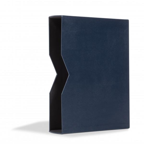 Schutzkassette für Einsteckbuch LEDER, blau