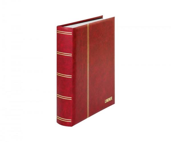Einsteckbuch ELEGANT rot, mit 60 weißen Seiten und passender Schutzkassette