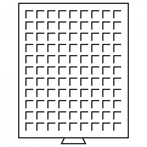 Münzbox 99 eckige Fächer (19 mm), rauchfarben