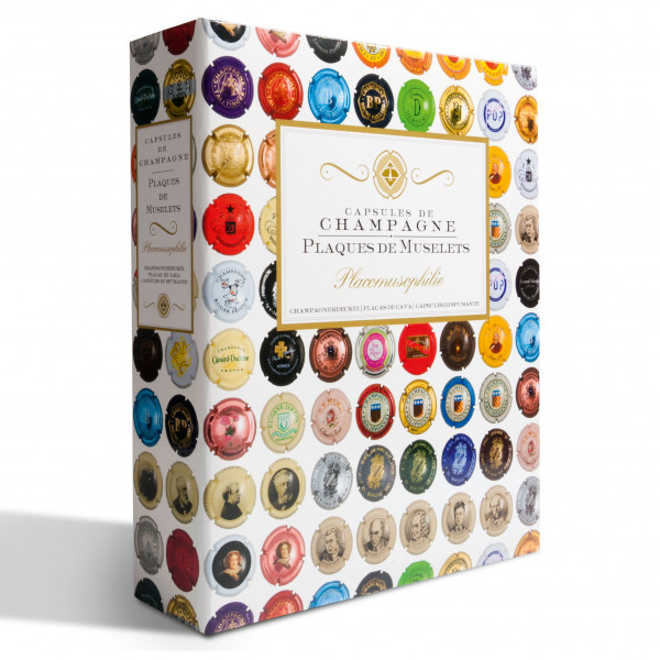 Ringbinder GRANDE, inkl. 4 klarsichtigen Hüllen ENCAP für 168 Champagnerdeckel