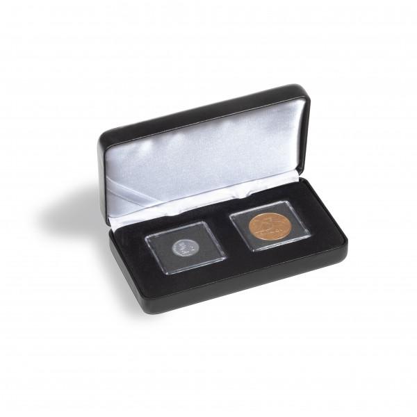 Münzetui NOBILE für 2 QUADRUM Mini-Kapseln, schwarz