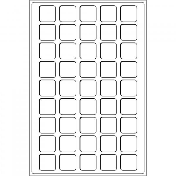 Münztableau L für 45 Münzen bis 31 mm Ø, weinrot, 2er Pack