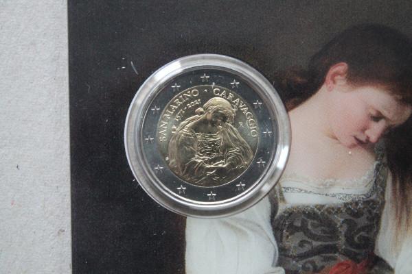 San Marino 2 Euro Münze 2021 - 450. Geburtstag von Caravaggio - stempelglanz
