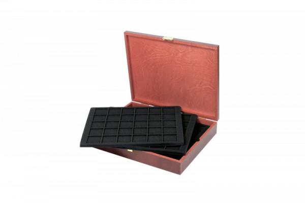 Echtholz Münzkassette für 150 Münzen/Münzkapseln bis ø 38 mm - SONDEREDITION