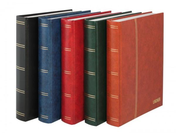 Einsteckbuch ELEGANT, rot, wattiert, 60 weiße Seiten, durchgehende Pergamin-Streifen, 230 x 305 mm