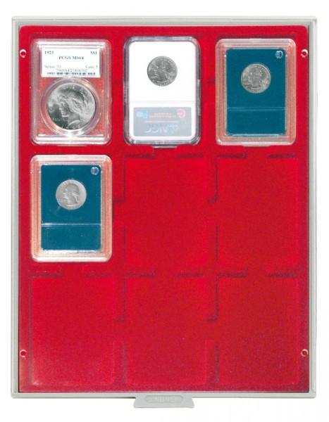 Münzbox STANDARD für 9 US-Münzkapseln (Slabs) bis zu einem Format von 63x85 mm