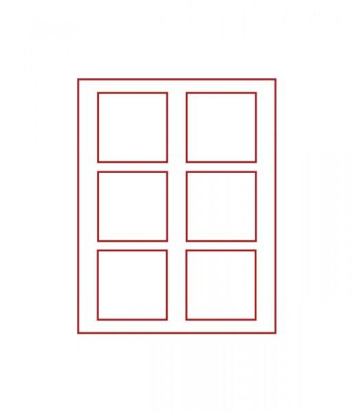 Velourseinlage, RAUCHGLAS mit 6 quadratischen Fächern 85 x 85 mm für Münzen/Medaillen und sonstige Sammelobjekte