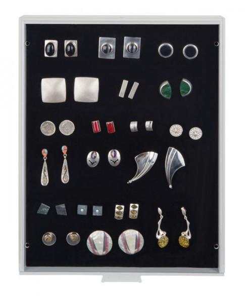 Sammelbox STANDARD mit schwarzer Schaumstoffeinlage für PINs / Orden / Abzeichen