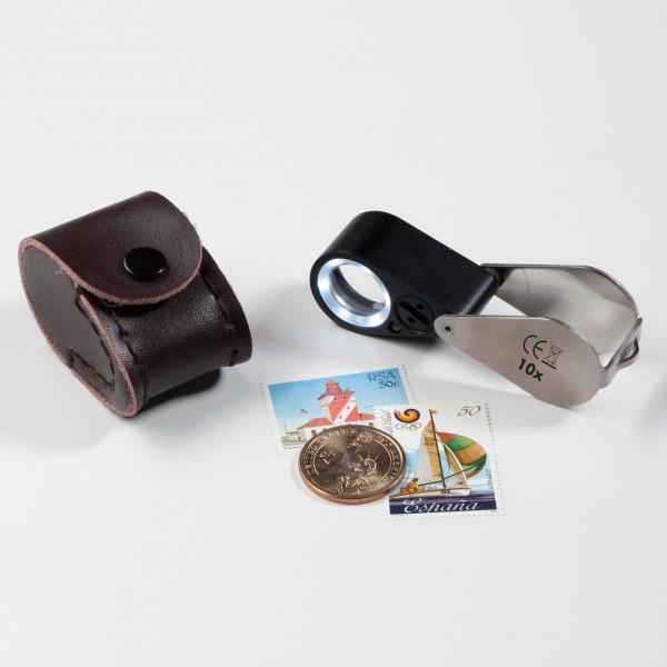 Präzisions-Lupe mit LED und UV-Lampe, 10fache-Vergrößerung