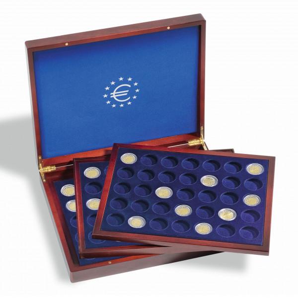 Münzkassette VOLTERRA TRIO deLuxe, für 105 Münzen in Kapseln bis 26 mm Ø