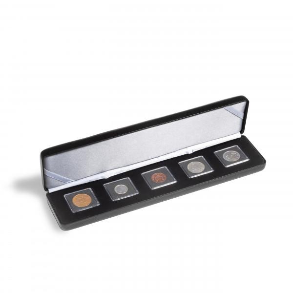 Münzetui NOBILE für 5 QUADRUM Mini-Kapseln, schwarz