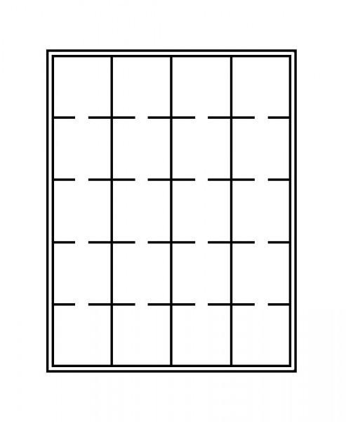Münzbox-Rahmen CHASSIS Mattschwarz inkl. Münzbox- Grau / schwarze Einlage für OCTOS/Rähmchen