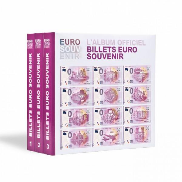 """Vordruckalbum für """"Euro Souvenir""""-Banknoten, Band 1 - 3"""