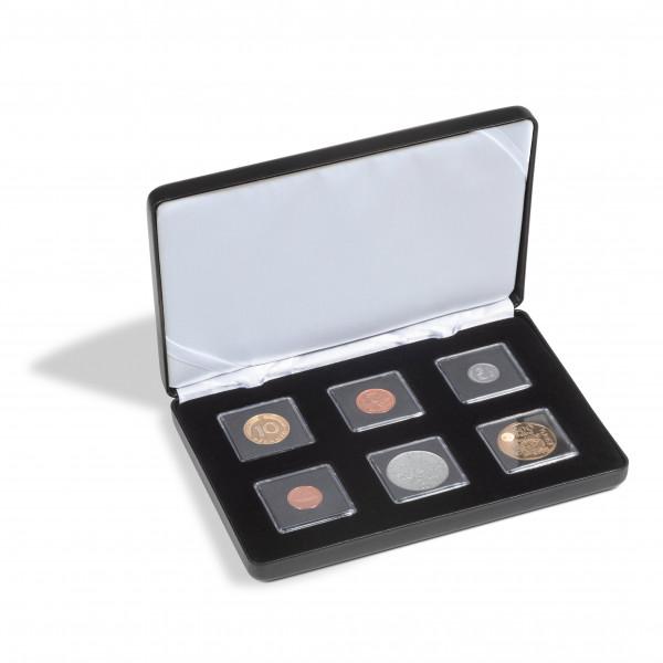 Münzetui NOBILE für 6 QUADRUM Mini-Kapseln, schwarz