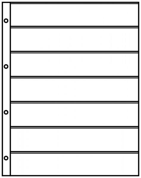 Einsteckblätter A4 schwarz mit 7 Streifen (40 mm), 10er-Packung