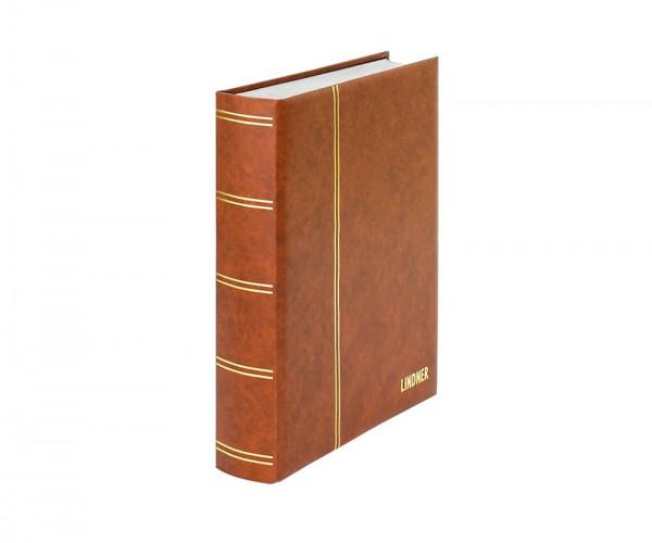 Einsteckbuch ELEGANT hellbraun, mit 60 weißen Seiten und passender Schutzkassette