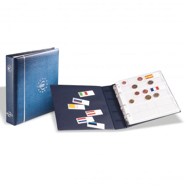 Münzalbum NUMIS, für Euro-Münzen, inkl. Schutzkassette, blau
