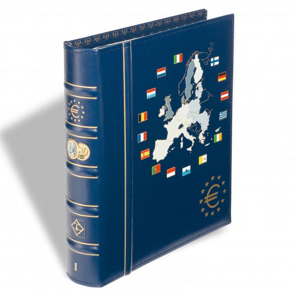 Münzalbum VISTA, Band 1 für 12 Euro Kursmünzensätze, inkl. Schutzkassette, blau
