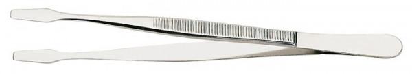 Pinzette, vernickelt, 120 mm, mit geraden Schaufeln