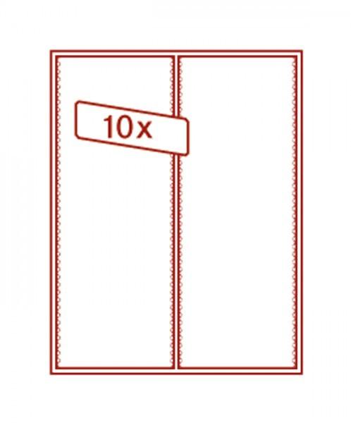 Sammelbox RAUCHGLAS mit 2 flexibel unterteilbaren Fächern 105 x 280 x 29 mm