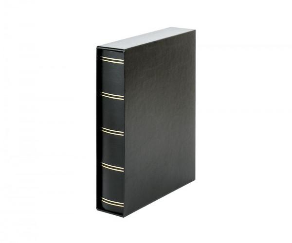 Einsteckbuch ELEGANT schwarz, mit 60 schwarzen Seiten und passender Schutzkassette