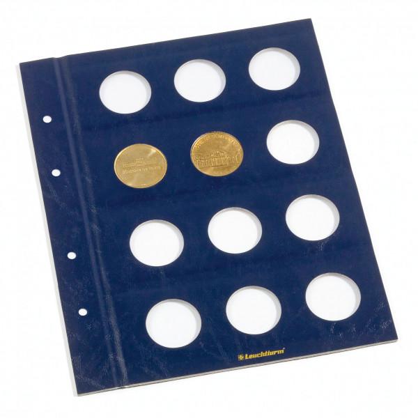 Münzblätter VISTA, für franz.Touristik-Medaillen, 2er Pack