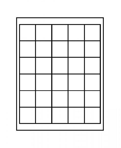 Velourseinlage, dunkelblau, mit 30 quadratischen Fächern für Münzen/Münzkapseln bis ø38 mm