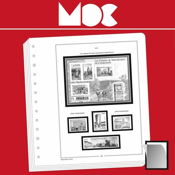MOC SF-Vordruckblätter Frankreich - Selbstklebende Marken für Geschäftskunden 2009-2016