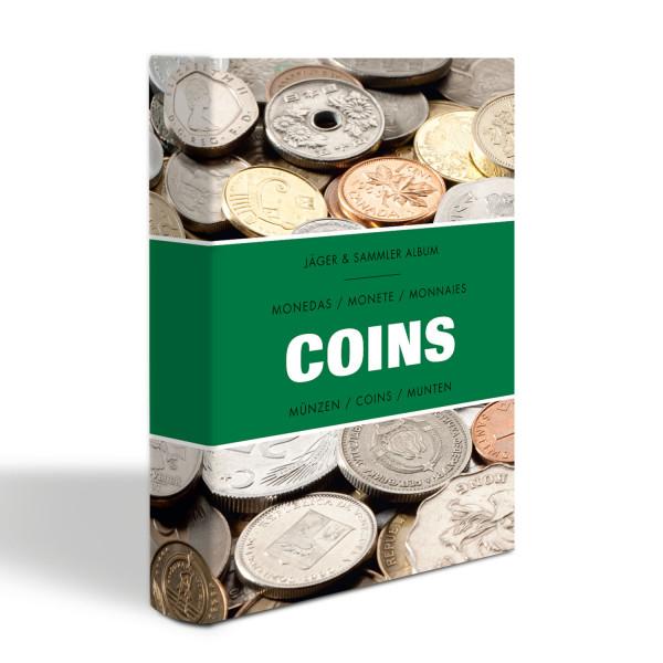 Münzen-Taschenalbum COINS mit 8 Münzblättern für je 6 Münzen, laminiert