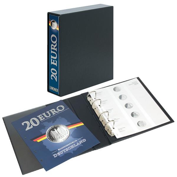 PUBLICA M Vordruckalbum 20 Euro-Silbermünzen Deutschland inkl. Kassette