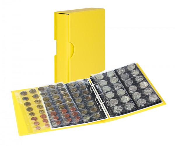 PUBLICA M COLOR Münzalbum mit 10 Münzblättern in 5 Ausführungen mit passender Schutzkassette