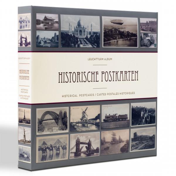Album für 600 historische Postkarten, mit 50 eingebundenen Klarsichthüllen