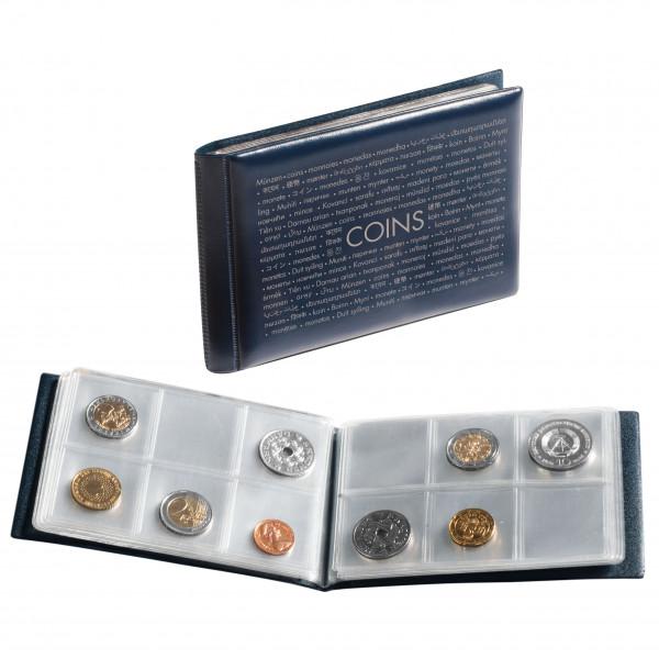 Taschenalbum ROUTE für 48 Münzen, blau