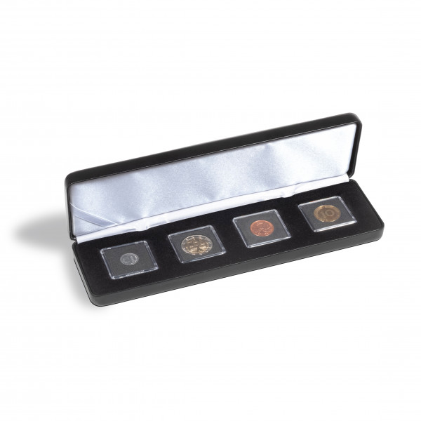 Münzetui NOBILE für 4 QUADRUM Mini-Kapseln, schwarz