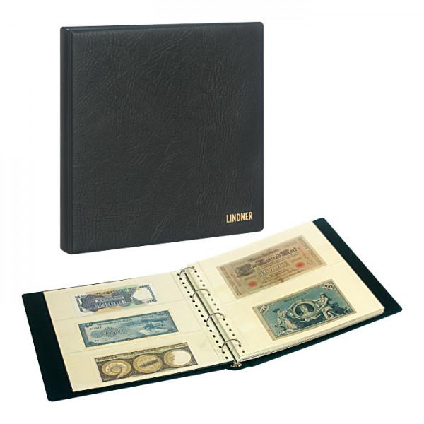 Set: Banknotenalbum SRS mit 20 Klarsichthüllen für Banknoten und Schutzkassette