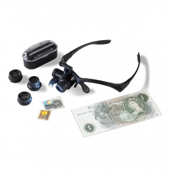 LED-Lupenbrille MONOKEL mit 10- bis 25-facher Vergrößerung