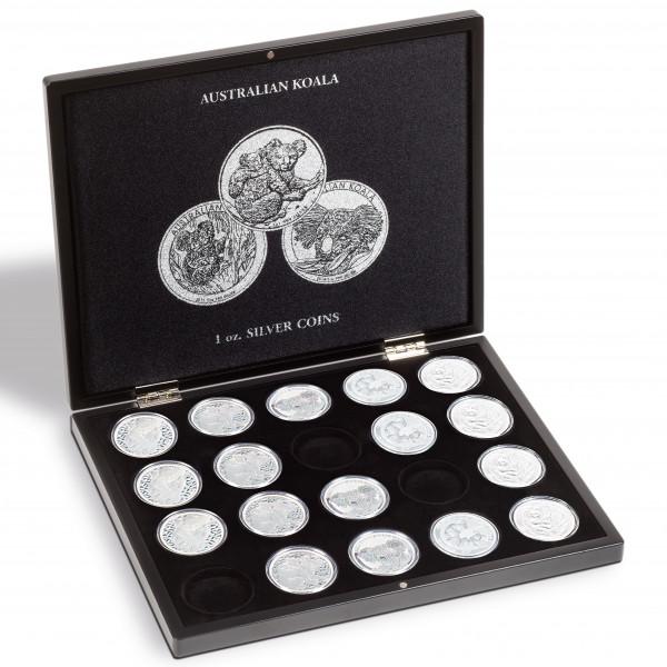 Münzkassette für 20 Koala-Silberunzen, schwarz