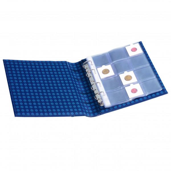 Münzrähmchenalbum OPTIMA, Classic-Design, blau