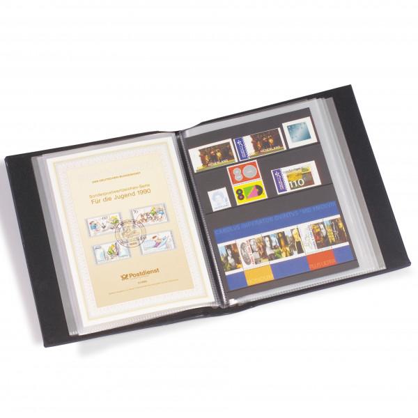 Ersttagsblatt-Album mit 50 Klarsichthüllen, blau