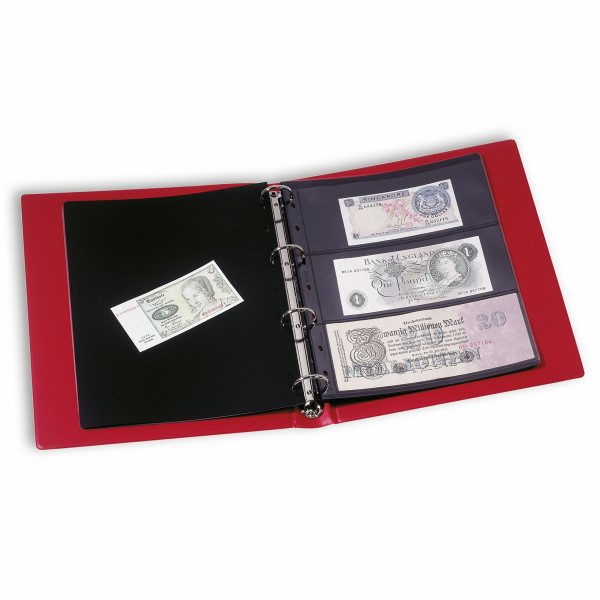 Banknotenalbum VARIO, inkl. 10 Hüllen, schwarz