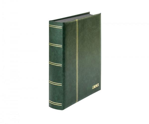 Einsteckbuch ELEGANT grün, mit 60 schwarzen Seiten und passender Schutzkassette