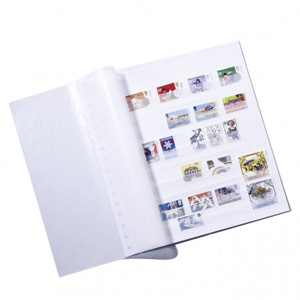 Einsteckblätter ASTRA, mit 11 Pergaminstreifen, ungeteilt, weiß, 5er Pack