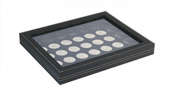 Münzkassette NERA M PLUS mit schwarzer Münzeinlage mit 35 runden Vertiefungen für Münzen mit ø 32,5 mm, z.B. für deutsche 20 Euro- bzw. 10 Euro-Silbermünzen